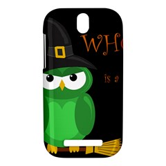 Who is a witch? - green HTC One SV Hardshell Case