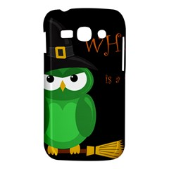 Who is a witch? - green Samsung Galaxy Ace 3 S7272 Hardshell Case