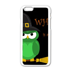 Who is a witch? - green Apple iPhone 6/6S White Enamel Case