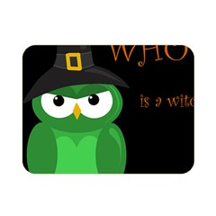 Who is a witch? - green Double Sided Flano Blanket (Mini)