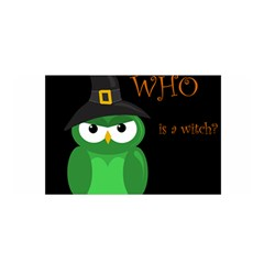 Who is a witch? - green Satin Wrap