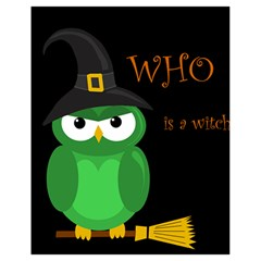 Who is a witch? - green Drawstring Bag (Small)