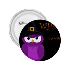 Who is a witch? - purple 2.25  Buttons