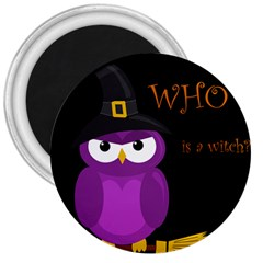 Who is a witch? - purple 3  Magnets
