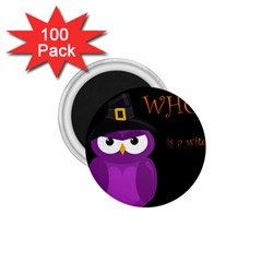 Who is a witch? - purple 1.75  Magnets (100 pack)