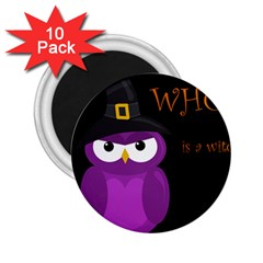 Who is a witch? - purple 2.25  Magnets (10 pack)