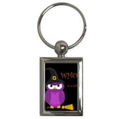 Who is a witch? - purple Key Chains (Rectangle)