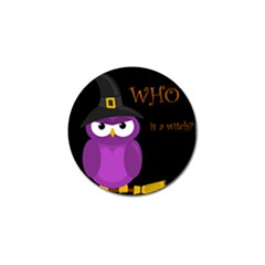 Who is a witch? - purple Golf Ball Marker