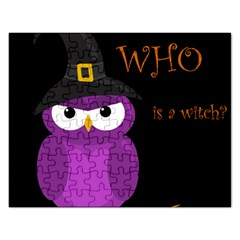 Who is a witch? - purple Rectangular Jigsaw Puzzl