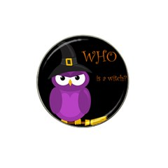 Who is a witch? - purple Hat Clip Ball Marker (10 pack)
