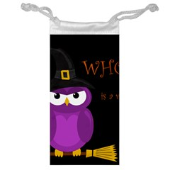 Who is a witch? - purple Jewelry Bags