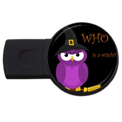 Who is a witch? - purple USB Flash Drive Round (4 GB)