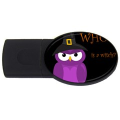 Who is a witch? - purple USB Flash Drive Oval (4 GB)
