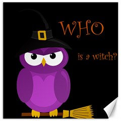 Who is a witch? - purple Canvas 20  x 20