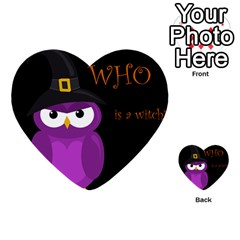 Who Is A Witch?   Purple Multi Purpose Cards (heart)