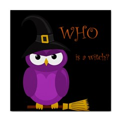 Who is a witch? - purple Face Towel