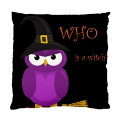 Who is a witch? - purple Standard Cushion Case (Two Sides)