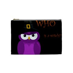 Who is a witch? - purple Cosmetic Bag (Medium)