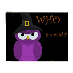Who is a witch? - purple Cosmetic Bag (XL)