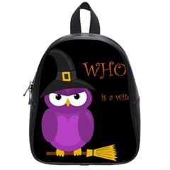 Who is a witch? - purple School Bags (Small)
