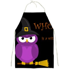 Who is a witch? - purple Full Print Aprons