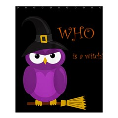 Who is a witch? - purple Shower Curtain 60  x 72  (Medium)