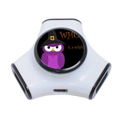Who is a witch? - purple 3-Port USB Hub