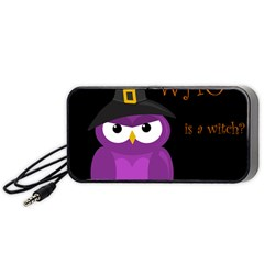 Who is a witch? - purple Portable Speaker (Black)