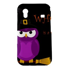 Who is a witch? - purple Samsung Galaxy Ace S5830 Hardshell Case