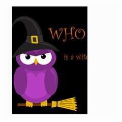 Who is a witch? - purple Large Garden Flag (Two Sides)