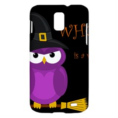 Who is a witch? - purple Samsung Galaxy S II Skyrocket Hardshell Case
