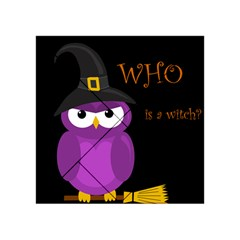 Who is a witch? - purple Acrylic Tangram Puzzle (4  x 4 )