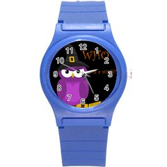 Who is a witch? - purple Round Plastic Sport Watch (S)