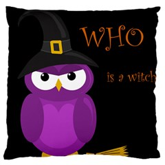 Who is a witch? - purple Large Cushion Case (One Side)