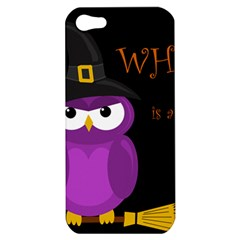 Who is a witch? - purple Apple iPhone 5 Hardshell Case