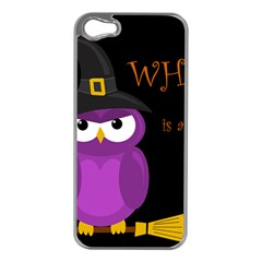 Who is a witch? - purple Apple iPhone 5 Case (Silver)