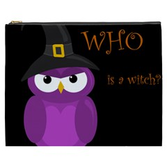 Who is a witch? - purple Cosmetic Bag (XXXL)