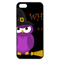 Who is a witch? - purple Apple iPhone 5 Seamless Case (Black)