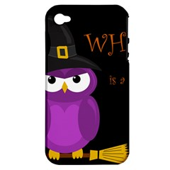 Who is a witch? - purple Apple iPhone 4/4S Hardshell Case (PC+Silicone)