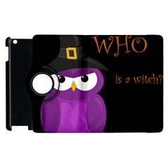 Who is a witch? - purple Apple iPad 3/4 Flip 360 Case