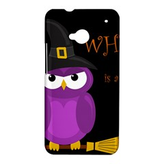 Who is a witch? - purple HTC One M7 Hardshell Case