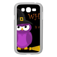 Who is a witch? - purple Samsung Galaxy Grand DUOS I9082 Case (White)