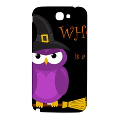 Who is a witch? - purple Samsung Note 2 N7100 Hardshell Back Case