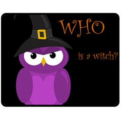 Who is a witch? - purple Double Sided Fleece Blanket (Medium)