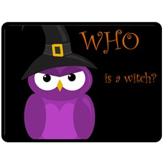 Who is a witch? - purple Double Sided Fleece Blanket (Large)