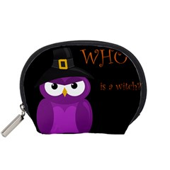 Who is a witch? - purple Accessory Pouches (Small)