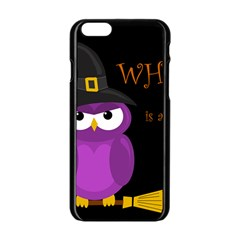 Who is a witch? - purple Apple iPhone 6/6S Black Enamel Case