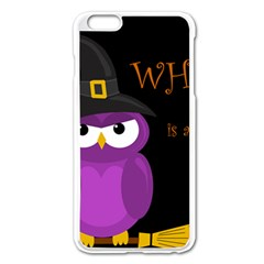 Who is a witch? - purple Apple iPhone 6 Plus/6S Plus Enamel White Case