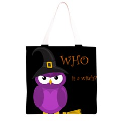 Who is a witch? - purple Grocery Light Tote Bag