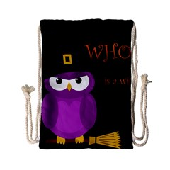 Who is a witch? - purple Drawstring Bag (Small)